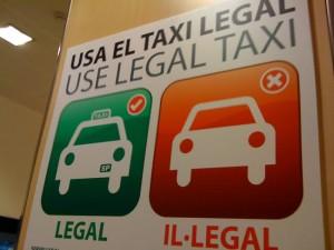 Neem een legale taxi
