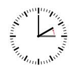 klok uur terug