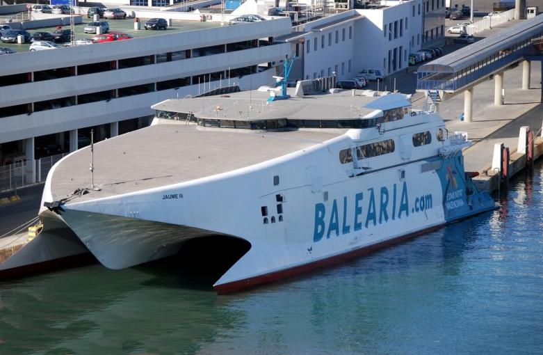 balearia vervangt fast ferry ibiza vandaag