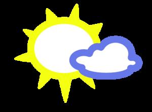 zon-wolkje