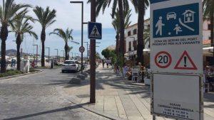 Taxi standplaats Ibiza oude haven