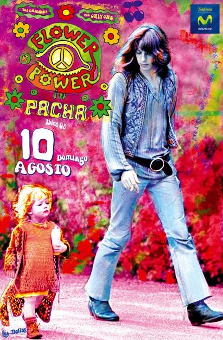Een poster van een Pacha feest met het tweetal