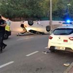 Auto ongeluk bij Santa Eularia