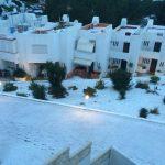 Sneeuw op Ibiza